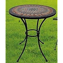 Beautiful Table De Jardin Ronde Dessus Mosaique Contemporary ...