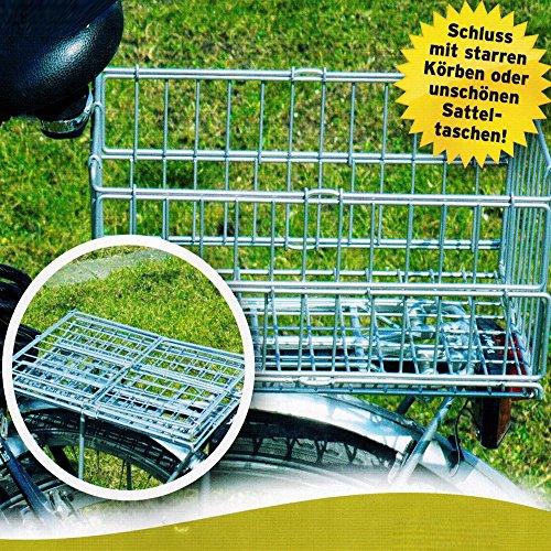 Klappbarer Fahrradkorb Gepäckträger Korb Fahrradzubehör Hinterradkorb 122