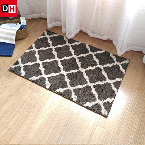 Preisvergleich Produktbild Die halle Tür mat mat Badezimmer WC-Tür mat Mat wc Wasser Badematte Teppich, 60 * 90 cm, Lane diamond Braun