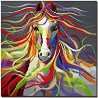 wesiator-colorful Cavallo Animali Selvatici 76,2x 76,2cm, 100%