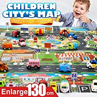 BABYCHOICE Kids Play Mat City Road Buildings Parking Map Game Scene Map Educational Toys