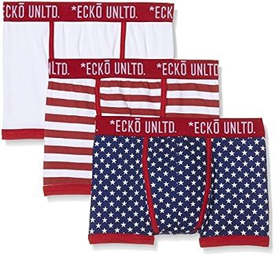 Original Penguin Men's 3pk Underwear Ecko Black Plain Neons A Front Boxer Shorts