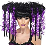 Smiffy's Halloween Wig Curl - Black and Purple
