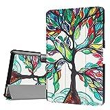 DETUOSI Acer Iconia Tab 10 B3-A30 10.1 Zoll Hülle, Ultra Slim PU Lederhülle zubehör Schutzhülle Flip Tasche für Acer Iconia One 10 (B3-A30) 25,7cm Schale mit Holder Stand (Bunte Baum)