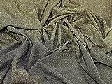 Glitzernde Lurex Stretch Jersey Knit Kleid Stoff gold auf schwarz–Meterware