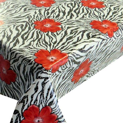 Plegado Varios Tamaños Color, diseño y hule Mantel, pvc, Zebra Rot, 140...