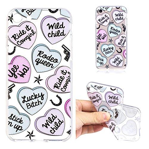 """Hülle für Apple iPhone 7 , IJIA Transparente Krone (Queen) TPU Weich Silikon Stoßkasten Cover Handyhülle Schutzhülle Handytasche Schale Case Tasche für Apple iPhone 7 (4.7"""") LF5"""