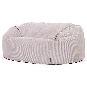 dce4110b65 icon Soul Classic Cord Bean Bag Chair - Giant Luxury Jumbo Cord Snuggle  Seat (Stone
