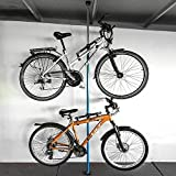 ALLEGRA Fahrrad-Wandhalterung Fahrradhalterung Fahrradaufhängung Fahrradmontageständer (Blau, 2 Halter + Stange 160cm - 290cm)