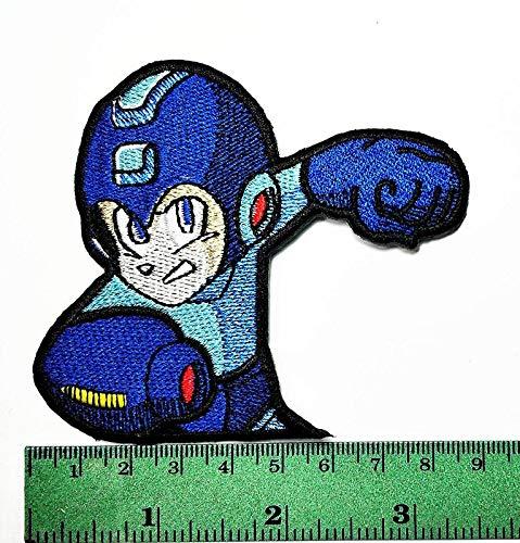 Babys Zeichen Cartoon Kostüm - LipaLipaNa Megaman Powered Cartoon Movie Patch Kind Baby Boy Jacke T-Shirt Patch Nähen Eisen auf gesticktes Symbol Badge Tuch Zeichen Kostüm Applique Souvenir Zubehör