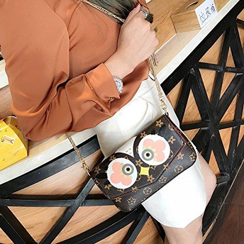 Weibliche schlagfarbe Dreiteiliger satz der kükenhandtaschenart und Weiseschulterbeutel einfaches kettenschrägkreuz Geöffnete Augen