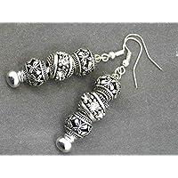 Orecchini Charms modello Thurcolas Manhattan con perline in metallo e cristalli
