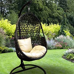 charlies fauteuil de jardin uf suspendu avec coussin jardin. Black Bedroom Furniture Sets. Home Design Ideas