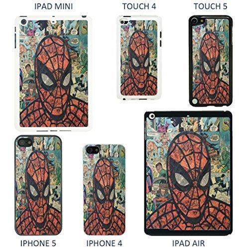 Accessories4Life Coque de protection pour appareils Apple Motif couverture de bande dessinée Marvel, Batman - 926 - Blanc, iPhone 5/5S Spiderman - 911 - Blanc