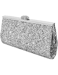 Amazon.co.uk: Silver - Clutches / Women's Handbags: Shoes & Bags