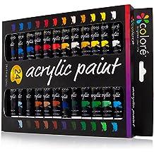 Set de Pinturas Acrílicas Colore – Perfecto para pintar en canvas, arcilla, tejidos,