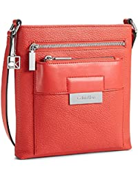 Calvin Klein Valerie Triple Zip Pack Crossbody Bag Handbag Cerise