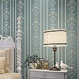 XPY-Wallpaper Europäische Moderne minimalistische 3D Streifen Selbstklebende Vliestapete Wohnzimmer Schlafzimmer Zimmer Hintergrund Tapeten, blau