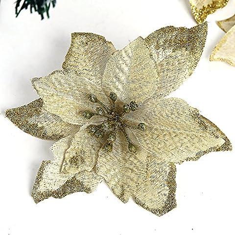 Natale artificiale fiori 6pcs 5inch per Natale Festival decorazione ornamento