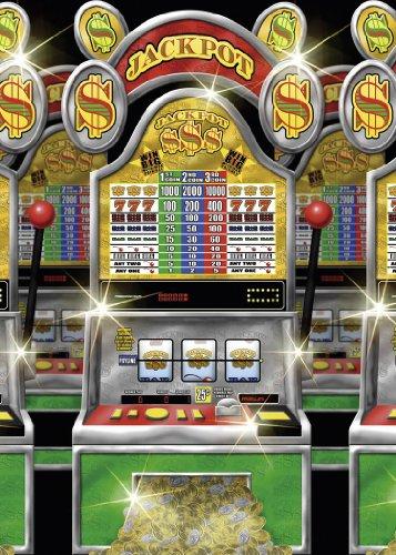 12 Meter Wanddeko - CASINO - Slotmaschinen Spielautomaten einarmiger Bandit Las (Vegas Dekoration Las)