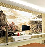 Acutray Ein Großes Wandbild Nahtlose Lange Stream Fließen Fernseher Sofa Hintergrund Der Chinesischen Malerei Chinesische Tinte Landschaft Reiten Und Pentium