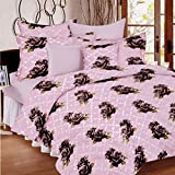Ahmedabad Cotton Comfort 160 TC Cotton Bedsheet with 2 Pillow Covers - King Size, Purple