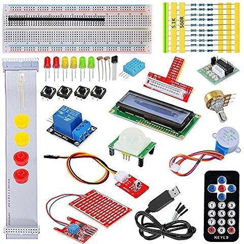tolako Starter Kit para Raspberry Pi Modelo B, 3, 2& + T de extensión GPIO Board, PL2303, paso Motor, placa de pruebas, Dot Matrix Display, control remoto Starter