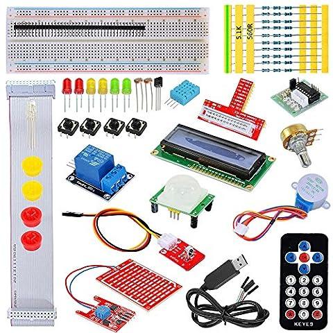 Tolako Kit de démarrage pour Raspberry Pi modèle B 3, 2 et + T GPIO Extension Planche 7, Moteur, Step, platine d'expérimentation, Dot Matrix affichage, télécommande, Kit de démarrage