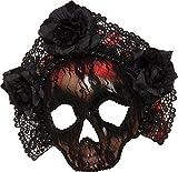 Damen Mexikanisch Karneval Kostüm Zubehör Ziemlich Tödlich Spitze Totenkopf Maske