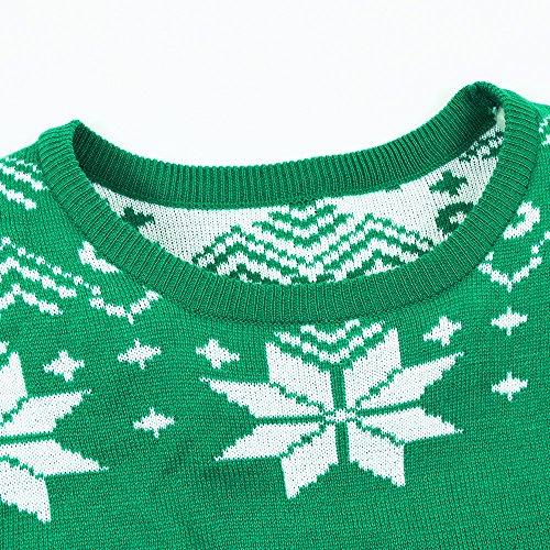uideazone Herren Damen Ugly Weihnachts Pullover Jumper Xmas Sweater Shirt Strickpullover Z-xmas-1