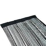 Fadenvorhang 90 x 200 Perlenvorhang Türvorhang Insektenschutzvorhang schwarz grau Fadenstore Raumteiler