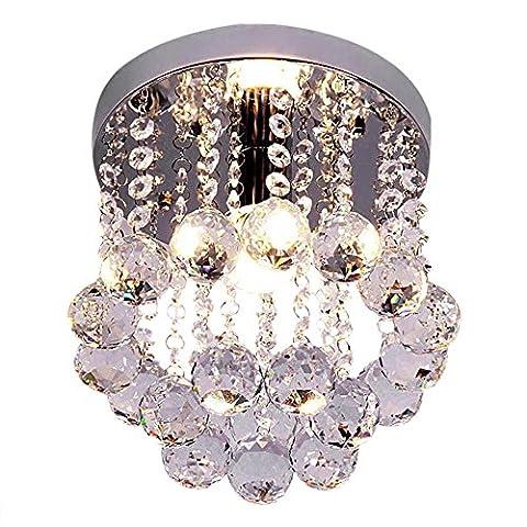 Moderne Luxe Ccréatif LED ronde Mini Style de cristal Plafonniers