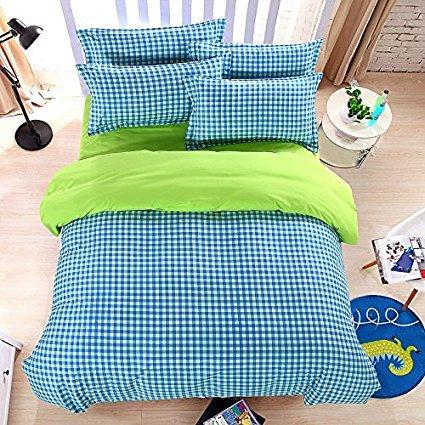 KFZ 4Gitter Design Bettwäsche Sets Made mit hautfreundlichen Material (kein Tröster involviert) Abstrakt Designs