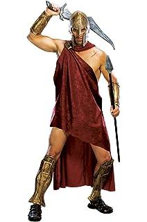 Sconosciuto 300 Temistocle Deluxe Costume Film Greco Uomini Costume 6 Pezzi Pannello Esterno della Cinghia del Casco del Capo Bracciali Greaves XL