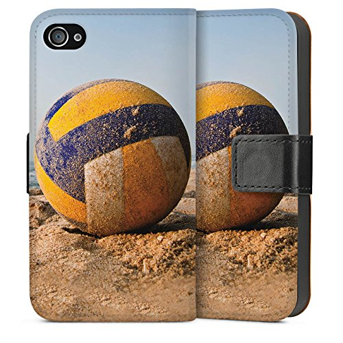 Apple iPhone 5s Housse Outdoor Étui militaire Coque Volleyball Sable Plage Sideflip Sac