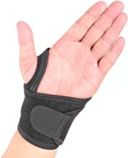 Noova Wrist Band Support Wrap – Wrist Bands For Men and Women Perfect for Sports Gym Tennis Badminton Golf Wraps For Carpel Tunnel With Thumb Loop