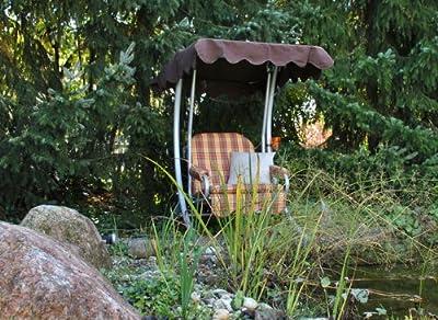 Angerer Hollywoodschaukel, Single Hollywoodschaukel Design London, mehrfarbig, 145x100x160 cm, 2011/088/10 von Angerer - Gartenmöbel von Du und Dein Garten