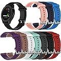 Ersatzbänder für Garmin Vivoactive 3 / Vivomove / Vivomove HR Fitness Uhr 20mm verstellbares weiches Silikonband Schnellspanner Zubehör Armband von AumoToo