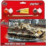 Airfix 1:76 King Tiger Military Vehicle Gift Set