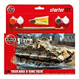 Airfix A55303 King Tiger 1:76 Scale Model Medium Starter Set