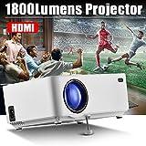 Mini-Filmprojektor Multimedia Heimkino-Videoprojektor mit HDMI-Kabel, Unterstützung 1080 P HDMI USB SD Karte VGA AV TV Laptop Spiel iPhone Android Smartphone 1800 Lumen LCD