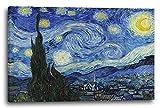 Printed Paintings Leinwand (80x60cm): Vincent Van Gogh - Die Sternennacht (1889)