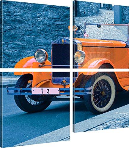 Kunstlab Oldtimer Bild auf Leinwand Auto Kunstdruck Pkw Wanddekoration