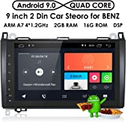 hizpo RAM 2G ROM 16G Android 9.0 Car Radio 9 Inch Multi Touch Screen for Mercedes Benz A-Class W164 B-Class W245 C-Class W639