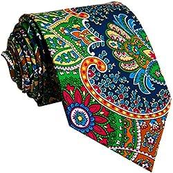 shlax&wing La Moda Hombre Boda Seda Corbatas Para Multicolor Geométrico Floral