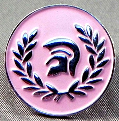 metal-enamel-pin-badge-brooch-mod-scooter-trojan-skinhead-pink