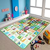 The Home Talk Kids Play Mat/ Learning Mat/ Floor Mat, Aplhabets And Shapes, Size: 120 X 180 CM Or 4 X 6 Ft, Bright Colors, Foam Sheet, Cushioned- Multicolor (Free Gift: Pack Of 4 Kids Printed Face Towel Set)