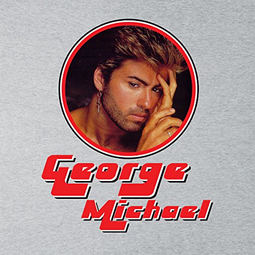 George Michael Pensive Retro Photo Frame Men's T-Shirt Heather Grey