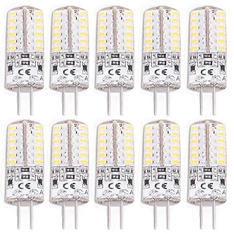 10er G4 LED 3W Energiesparlampe Warmweiß Stiftsockel Lampe Birne Ersetzt für 30W Halogen Leuchtmittel 240 Lumen AC/DC 12V