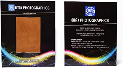 Omax chamios Leather for Cleaning Lens/LCD/Digital Camera (Set of 2 Leather)
